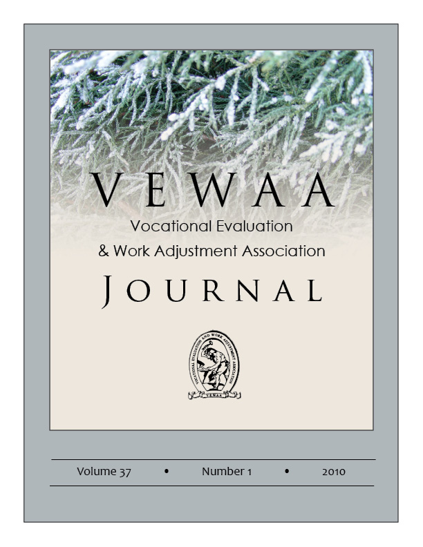 VEWAA Journal 2010 Spring Cover